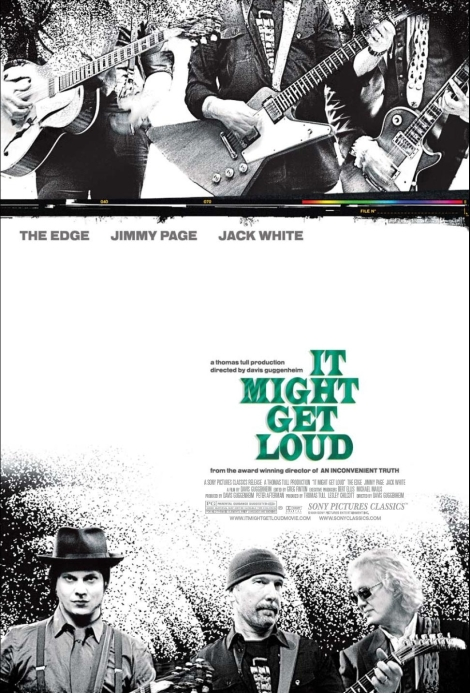 it might get loud poster