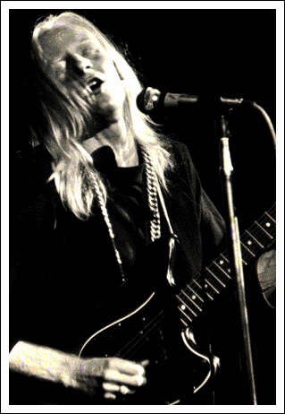 johnny winter black and white