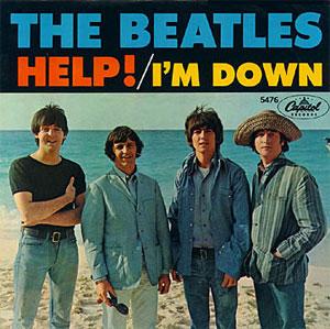 beatles i'm down help