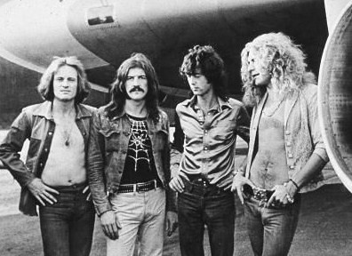 led zeppelin by plane