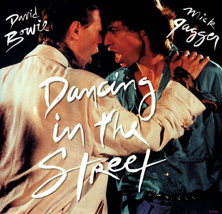 mick jagger & david bowie dancing in the streets