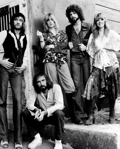 Fleetwood Mac Band Group Black And White Rock God Cred